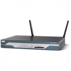 Cisco - CISCO1802/K9-RF - Cisco 1802 Integrated Services Fixed Configuration Router - 1 x ADSLoISDN WAN, 1 x ISDN BRI (S/T) WAN, 8 x 10/100Base-TX LAN, 1 x 10/100Base-TX WAN