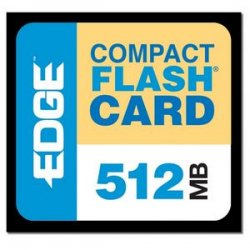 Edge Tech - EDGDM-179502-PE - EDGE Tech 512MB Premium CompactFlash Card - 512 MB