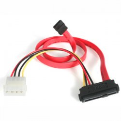 StarTech - SAS729PW18 - StarTech.com 18in SAS 29 Pin to SATA Cable with LP4 Power - Serial ATA Male