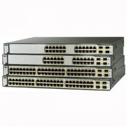 Cisco - WS-C3750G-24TS-E-RF - Cisco-Ingram Ceritifed Pre-Owned SWITCH CATALYST 3750 24 - Manageable - 3 Layer Supported - Lifetime Limited Warranty