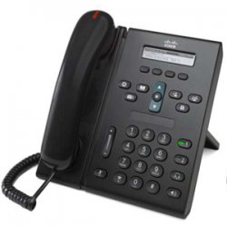 Cisco - CP-6921-C-K9= - Cisco 6921 Unified IP Phone - 1 x RJ-9 Headset, 2 x RJ-45 10/100Base-TX PoE - 2Phoneline(s) - Desktop, Wall-mountable