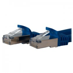 StarTech - C6ASPAT10BL - StarTech.com 10 ft Blue Shielded Snagless 10 Gigabit RJ45 STP Cat6a Patch Cable - Category 6a - 10 ft - 1 x RJ-45 Male Network - 1 x RJ-45 Male Network - Blue