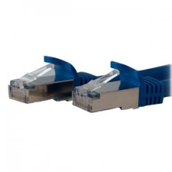 StarTech - C6ASPAT1BL - StarTech.com 1 ft Blue Shielded Snagless 10 Gigabit RJ45 STP Cat6a Patch Cable - Category 6a - 1 ft - 1 x RJ-45 Male Network - 1 x RJ-45 Male Network - Blue