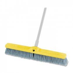 """Rubbermaid - 9B0200 GRAY - Rubbermaid Commercial Fine Floor Sweep 24"""" Foam Block - 1 Each - Polypropylene Bristle, Plastic Block, Foam Block - Gray"""