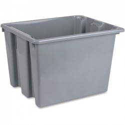 "Rubbermaid - 172200GY - Rubbermaid 12.16 Gal Capacity Palletote Box - External Dimensions: 19.5"" Length x 15.5"" Width x 13"" Height - 80 lb - 12.16 gal - Stackable - Polyethylene - Gray - 10 / Carton"