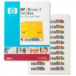 Hewlett Packard (HP) - Q2008A - HP Ultrium 3 WORM Bar Code Label Pack - 100 x Label