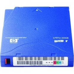 Hewlett Packard (HP) - C7971AN - HP C7971AN LTO Ultrium 1 Non-Custom Labeled Tape Cartridge - LTO Ultrium LTO-1 - 100GB (Native) / 200GB (Compressed)