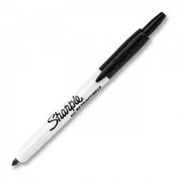 Sanford - 36701 - Sharpie RT Permanent Marker - Fine Marker Point Type - Black Ink - 1 Each