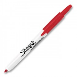Sanford - 36702 - Sharpie Permanent Marker - Fine Marker Point Type - Red Ink - 1 Each