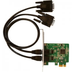 SIIG - ID-E20111-S1 - SIIG 2-port PCI Express Serial Adapter - 1 Pack - PCI Express
