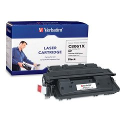 Verbatim / Smartdisk - 94464 - Verbatim High Yield Remanufactured Laser Toner Cartridge alternative for HP C8061X - Black - Laser - 10000 Page - 1 / Each