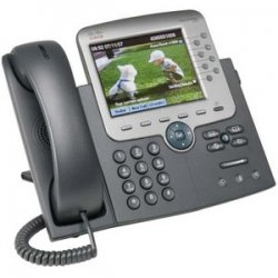 Cisco - CP-7975G= - Cisco Unified 7975G IP Phone - Dark Gray, Silver - 8 x Total Line - VoIP - 2 x Network (RJ-45) - Color - SIP Protocol(s)