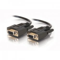 C2G (Cables To Go) - 25216 - C2G 3ft DB9 F/F Cable - Black - DB-9 Female Serial - DB-9 Female Serial - 3ft - Black