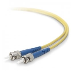 Belkin / Linksys - F2F80200-10M - Belkin Fiber Optic Duplex Patch Cable - ST Male - ST Male - 32.81ft - Yellow
