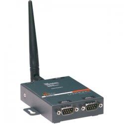 Lantronix - WB2100EG1-01 - Lantronix WBX2100E Wireless Device Server - Twisted Pair - 1 x Network (RJ-45) - 2 x Serial Port - 10/100Base-TX - Fast Ethernet - IEEE 802.11b/g - Wireless LAN