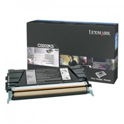 Lexmark - C5202KS - Lexmark Black Toner Cartridge - Laser - 1500 Page - Black