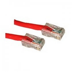 C2G (Cables To Go) - 24510 - 7ft Cat5e Non-Booted Crossover Unshielded (UTP) Network Patch Cable - Red - Category 5e for Network Device - RJ-45 Male - RJ-45 Male - Crossover - 7ft - Red