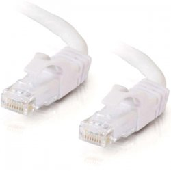 C2G (Cables To Go) - 27163 - C2G-10ft Cat6 Snagless Unshielded (UTP) Network Patch Cable - White - Category 6 for Network Device - RJ-45 Male - RJ-45 Male - 10ft - White