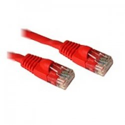 C2G (Cables To Go) - 27185 - 25ft Cat6 Snagless Unshielded (UTP) Network Patch Cable - Red - Category 6 for Network Device - RJ-45 Male - RJ-45 Male - 25ft - Red