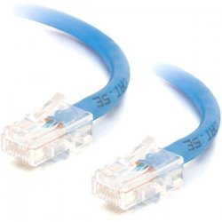 C2G (Cables To Go) - 25462 - 1ft Cat5e Non-Booted Unshielded (UTP) Ethernet Network Patch Cable - Blue - Category 5e for Network Device - RJ-45 Male - RJ-45 Male - 1ft - Blue