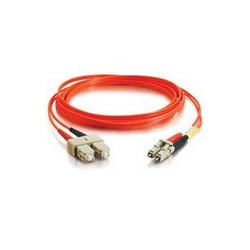 C2G (Cables To Go) - 33155 - 2m LC-SC 62.5/125 OM1 Duplex Multimode PVC Fiber Optic Cable - Orange - Fiber Optic for Network Device - LC Male - SC Male - 62.5/125 - Duplex Multimode - OM1 - 2m - Orange