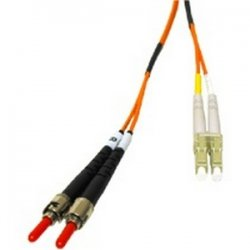 C2G (Cables To Go) - 33167 - C2G-8m LC-ST 62.5/125 OM1 Duplex Multimode PVC Fiber Optic Cable - Orange - Fiber Optic for Network Device - LC Male - ST Male - 62.5/125 - Duplex Multimode - OM1 - 8m - Orange