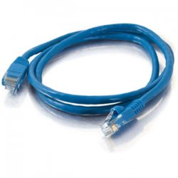 C2G (Cables To Go) - 23828 - C2G 1ft Cat5e Snagless Unshielded (UTP) Network Patch Ethernet Cable - Blue - Category 5e for Network Device - RJ-45 Male - RJ-45 Male - 1ft - Blue