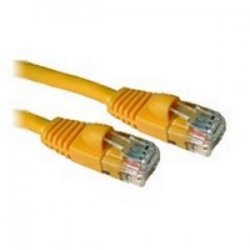 C2G (Cables To Go) - 15216 - 25ft Cat5e Snagless Unshielded (UTP) Network Patch Cable - Yellow - Category 5e for Network Device - RJ-45 Male - RJ-45 Male - 25ft - Yellow