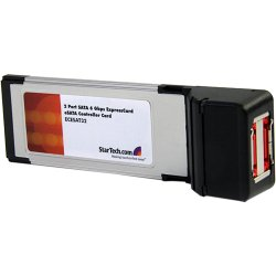 StarTech - ECESAT32 - StarTech.com 2 Port SATA 6 Gbps ExpressCard eSATA Controller Card - 2 x 7-pin Male Serial ATA/600 External SATA
