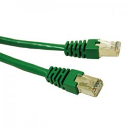 C2G (Cables To Go) - 31222 - C2G 5ft Cat6 Molded Shielded (STP) Network Patch Cable - Green - RJ-45 Male - RJ-45 Male - 5ft - Green