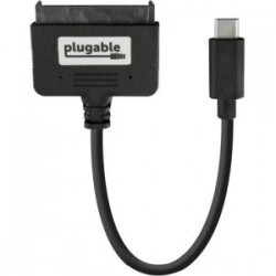 Plugable - USBC-SATA24 - Plugable USB 3.1 Gen 2 USB-C to SATA Adapter Cable - SATA/USB - 1.25 GB/s - 9 - 1 Pack - 1 x Type C Male USB - 1 x SATA - Shielding