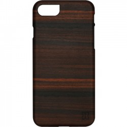 Man&Wood - M7017B - Man&Wood iPhone 7 Slim Ebony - iPhone 7 - Ebony, Black - Smooth - Wood, Polycarbonate