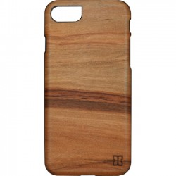 Man&Wood - M7021B - Man&Wood iPhone 7 Slim Cappuccino - iPhone 7 - Cappuccino, Black - Smooth - Wood, Polycarbonate