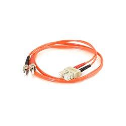 C2G (Cables To Go) - 37416 - C2G-2m SC-ST 50/125 OM2 Duplex Multimode PVC Fiber Optic Cable - Orange - Fiber Optic for Network Device - SC Male - ST Male - 50/125 - Duplex Multimode - OM2 - 2m - Orange