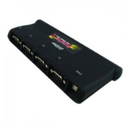 Comtrol - 98295-1 - Comtrol RocketPort USB Serial Hub II 4-Port RoHS - 4 x 9-pin DB-9 Male RS-232 Serial