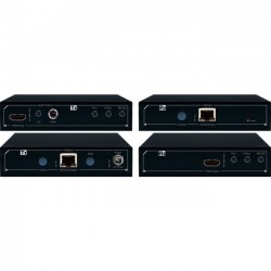 Key Digital Systems - KD-X411POHK - Key Digital FatCAT KD-X411POHK Video Console/Extender - Power over HDBaseT/HDMI via Single CAT5e/6 Extenders, Audio De-Embedding