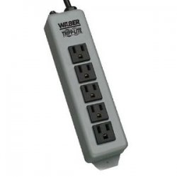 Tripp Lite - 602-15 - Tripp Lite Waber Power Strip Metal 5-15R 5 Outlet 5-15P 15' Cord - NEMA 5-15P - 15ft