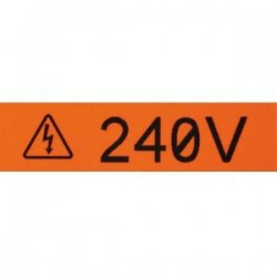 Panduit - T100X000VUC-BK - Panduit Label Tape - 1 Width x 24 15/16 ft Length - Orange - Vinyl