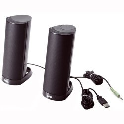 Dell - 464-7184 - Dell AX210 2.0 Speaker System - 1.2 W RMS - Black - USB