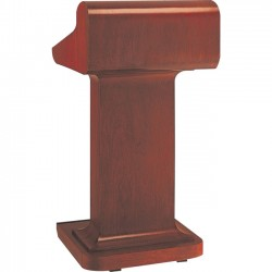 Da-Lite - 74599 - Da-Lite Pedestal Lectern - Pedestal Base - 25 Height - Veneer
