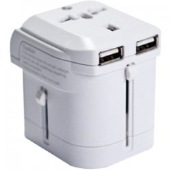 I/O Magic - I016W01RU2B - I/OMagic Power Plug - USB, AC Power - 110 V AC / 8 A, 220 V AC