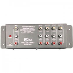 C2G (Cables To Go) - 41066 - C2G 4-Output RCA Audio/Video Distribution Amplifier - 1 x 4