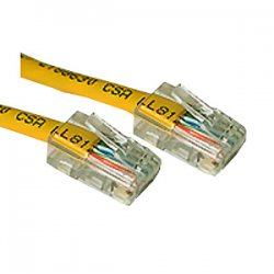 C2G (Cables To Go) - 24669 - C2G-2ft Cat5e Non-Booted Unshielded (UTP) Network Patch Cable - Yellow - Category 5e for Network Device - RJ-45 Male - RJ-45 Male - 2ft - Yellow