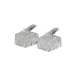 C2G (Cables To Go) - 27562 - C2G RJ11 6x4 Modular Plug for Round Solid Cable - 50pk - RJ-11