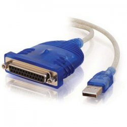 C2G (Cables To Go) - 16899 - C2G 6ft USB to DB25 Parallel Printer Adapter Cable - RJ-45, 110-punchdown""