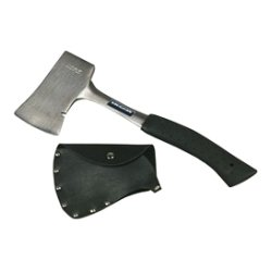Vaughan - AS1-1/4 - Vaughan Solid Steel Camp Axe With Sheath - Steel, Hickory - Shock Absorbing Handle, Non-slip Grip