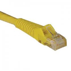 Tripp Lite - N201-025-YW - Tripp Lite 25ft Cat6 Gigabit Snagless Molded Patch Cable RJ45 M/M Yellow 25' - 25ft - 1 x RJ-45 Male - 1 x RJ-45 Male - Yellow