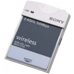 Sony - SNCA-CFW5 - Sony SNCACFW5 IEEE 802.11g Wireless LAN Card Adapter - PC Card Type II - 54Mbps