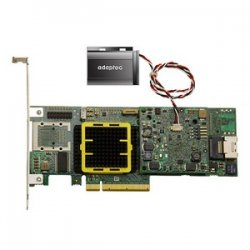 Adaptec - 2266800-R - Adaptec 5Z 5405Z 4-Port SAS RAID Controller - 512MB DDR2 - PCI Express - 300MBps - 1 x SFF-8087 - Mini-SAS Internal