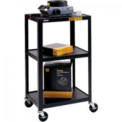 Bretford - 42-E4 - Bretford 42-E4 Assembled Mobile A/V Cart - Steel - Black
